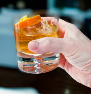 A picture perfect Old Fashioned cocktail