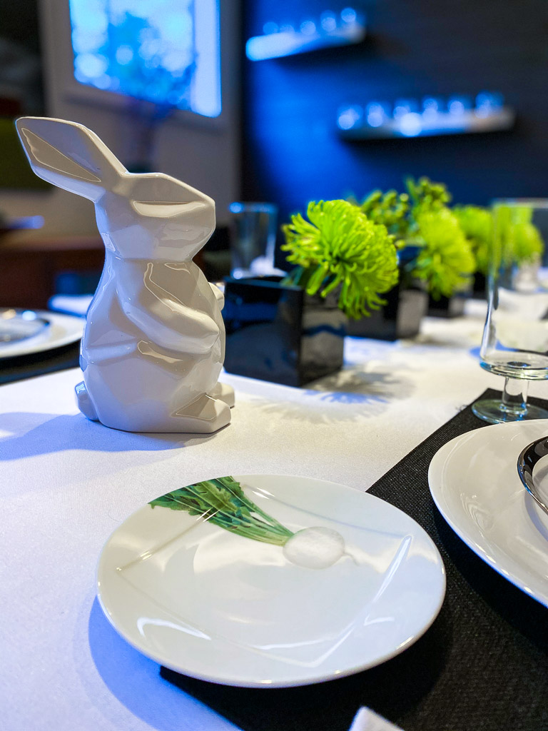 modern Easter tablescape ideas