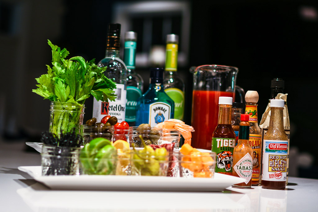 build your own Bloody Mary bar