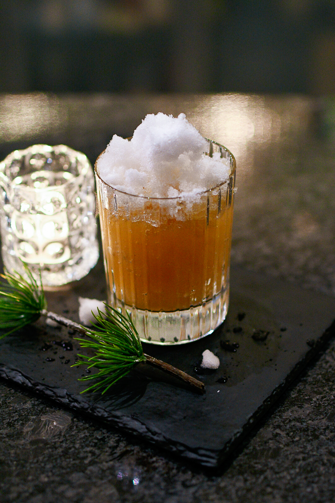 cocktails made with snow