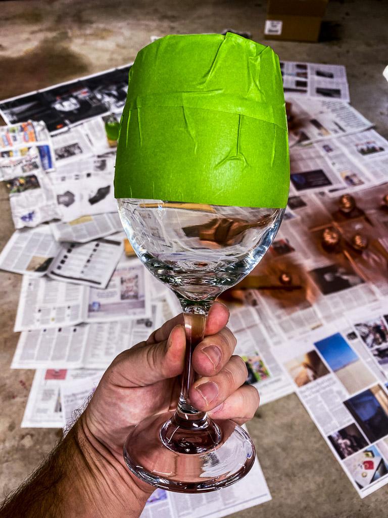 copper home decor, copper home accents, DIY home decor, DIY wine glasses, DIY copper wine glasses