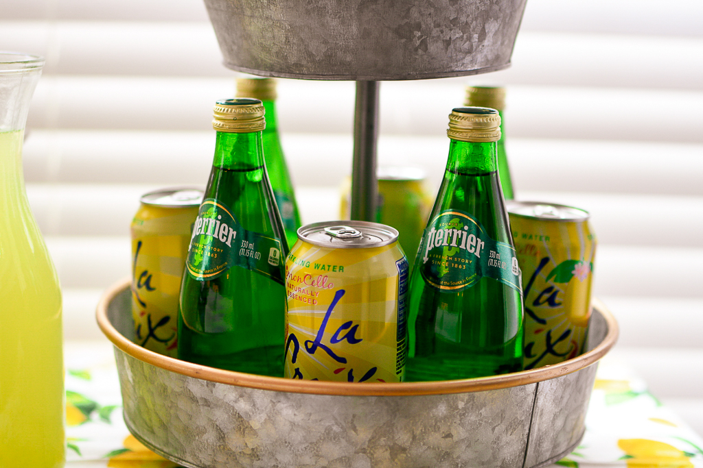 Home accents, event planning, home decor, vintage glassware, vintage green glassware, vintage yellow glassware, lemon table runner, lemon theme decor, lemon theme party ideas, lemonade cocktail recipes