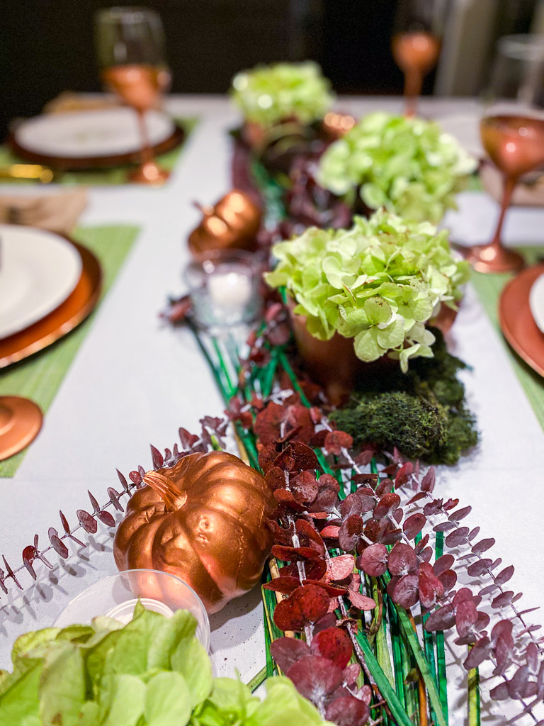 fall table centerpiece, fall table decor ideas, ideas for fall table decorations, fall table ideas, fall table setting ideas, fall decor ideas, simple fall tablescapes, fall tablescape ideas, fall table decor, fall table decorations ideas, modern fall table decor, fall decorating trends, fall decorating ideas, fall decor 2021, autumn table decorating ideas, copper home decor, copper home accents, eucalyptus centerpiece, green hydrangea centerpiece, copper pumpkins, copper wine glasses, copper chargers, gold flatware, gold utensils, white tablecloth, give thanks plates, thanksgiving, fall dinner partyfall table centerpiece, fall table decor ideas, ideas for fall table decorations, fall table ideas, fall table setting ideas, fall decor ideas, simple fall tablescapes, fall tablescape ideas, fall table decor, fall table decorations ideas, modern fall table decor, fall decorating trends, fall decorating ideas, fall decor 2021, autumn table decorating ideas, copper home decor, copper home accents, eucalyptus centerpiece, green hydrangea centerpiece, copper pumpkins, copper wine glasses, copper chargers, gold flatware, gold utensils, white tablecloth, give thanks plates, thanksgiving, fall dinner party