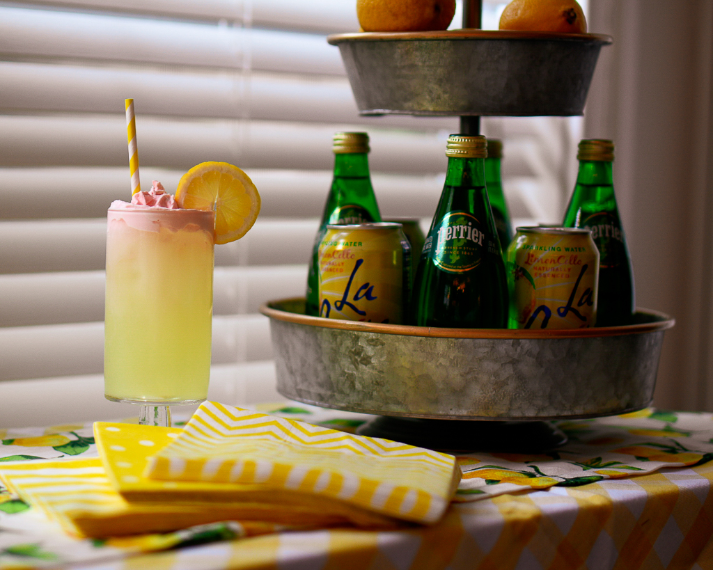 Whipped lemonade is great for a shower or luncheon, this whipped lemonade recipe shows you how to make whipped lemonade, it's a great non-alcoholic lemonade drink but can also be a lemonade cocktail with vodka. It goes perfectly with our lemon theme party ideas which is perfect as a summer party themes.
